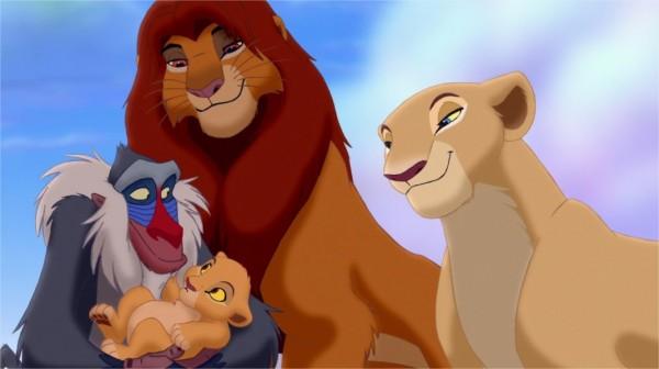 À la fin du film Simba
