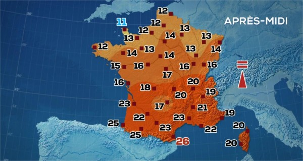 Quelle température fait-il à Bordeaux ?